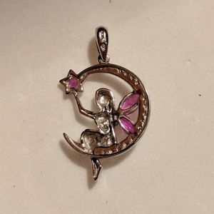 Jewelry - Fairy Sitting on the Moon Silver and Charm